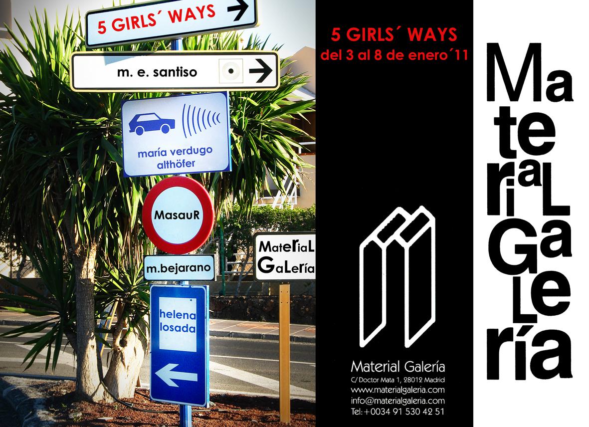 exposición colectiva de obra gráfica 5 girls' ways