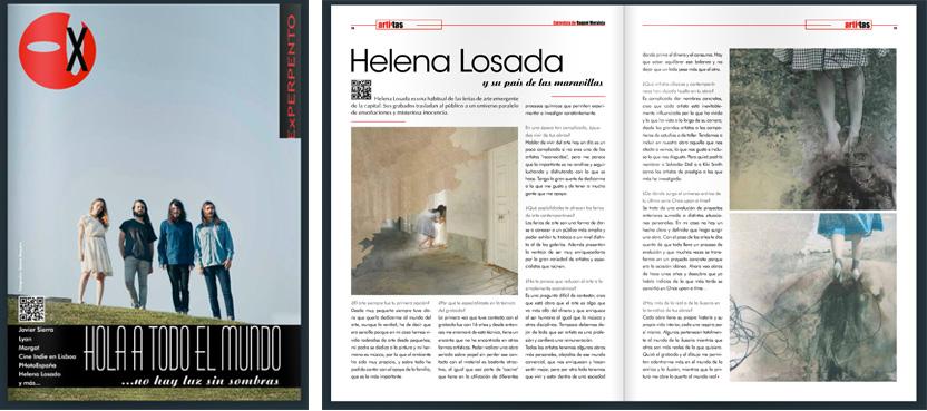 Revista Experpento, reportaje Helena Losada