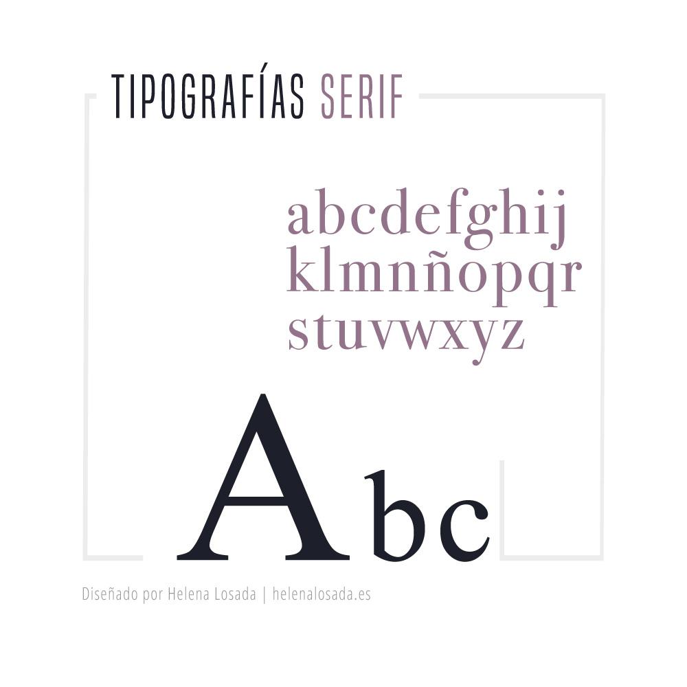 tipografia SERIF o con remate