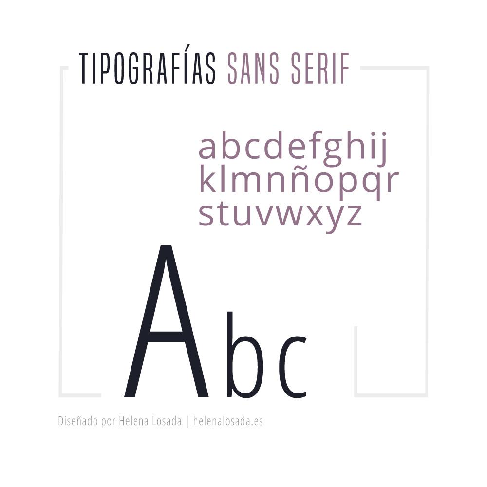 Tipografías sans serif
