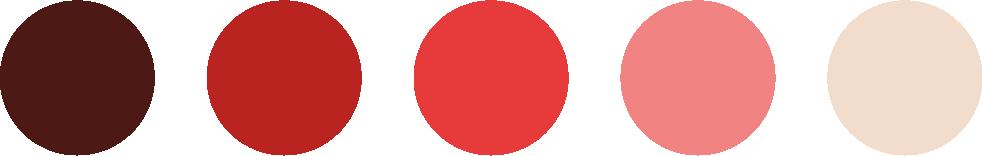 paleta de colores rojos