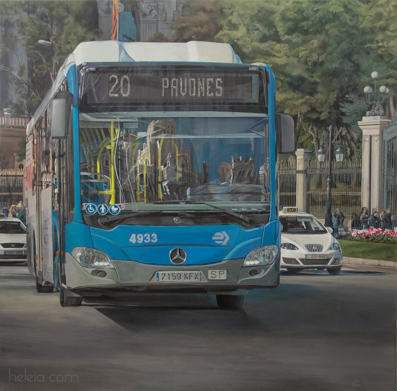 pintura reaista -  paisaje urbano Madrid