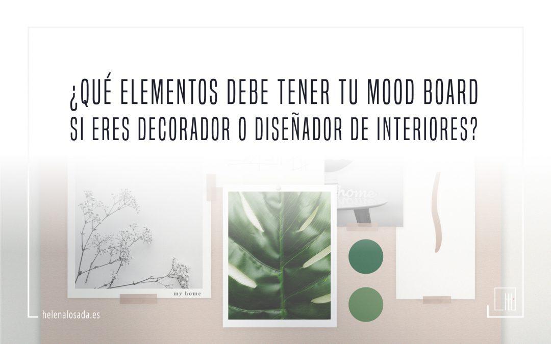 ¿Qué elementos debe tener tu moodboard si eres decorador o diseñador de interiores?